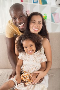 Step-mom happily integrating into a family. Stock photo kid totally isn't hers. Riiiight.